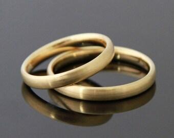 Wedding rings & I 8 k or 14 k gold