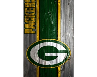 Please Read The Item Details - CUSTOM VINYL Cornhole Boards DECAL Green Bay Packers Wood  Bag Game Sticker
