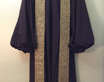 Green Clerical Stole with vintage ecclesiastical designs.