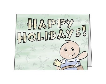 Happy Holidays Gordon Set of 10 Greeting Cards