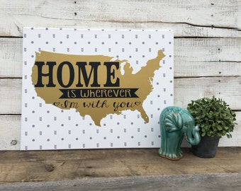 Canvas Home Sign