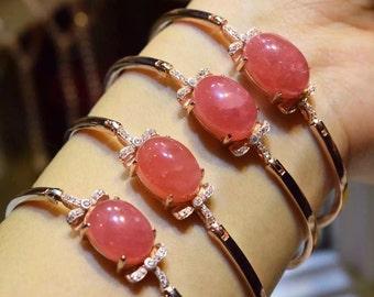 Natural Rhodochrosite Bracelet / 紅紋石手鏈
