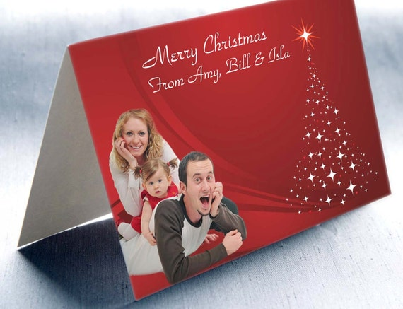 50 Personalised Christmas Cards