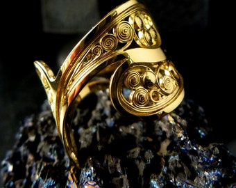 filigree ring yellow gold unique
