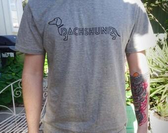 Men's Dachshund T-shirt -Grey