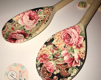 Decoupage Wooden Spoons