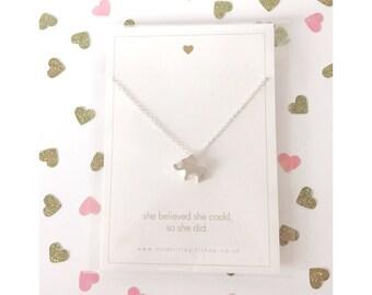 Lovely Little Elephant Necklace - Silver