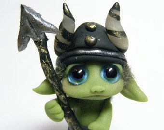 "OOAK Brave Goblin of the Guard Trollfling troll original doll ""Jacend"" by Amber Matthies"
