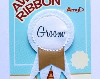 AmyD Award Ribbon - Groom