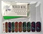 SALE! Rainbow Drip Chevron - Custom Nail Wrap Sheet