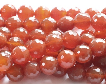 Carnelian Faceted Gemstone Beads