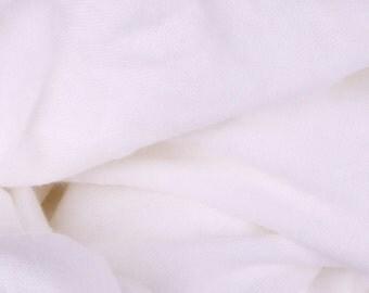 """White Thin Sweater Knit Jersey Fabric - 54"""" Wide - 1 2/3 Yard (PV-986)"""