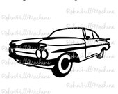 1959 Chevy Chevrolet Impala DXF file SVG files plasma cutting CNC laser metal art water jet milling router Instant Download