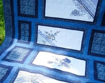Quilt - Japanese Tenugui - 80 x 100 -