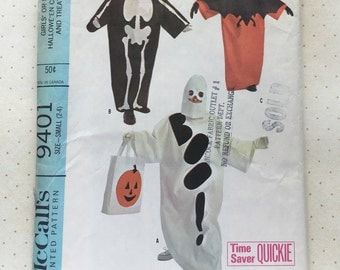 A Treat for You: 1968 McCall's Children's Halloween Cover-Up/Costume Pattern No. 9401