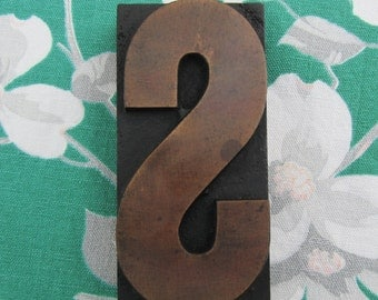 Letter S Antique Letterpress Wood Type Printers Block