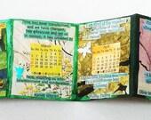 OOAK 2016 Desk Calendar, quotes about time,2016, 2016 calendar, unique desk calendar, art calendar, OOAK calendar,accordion book calendar