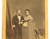 Antique Victorian Circus Sideshow TOM THUMB Charles Stratton and wife Lavinia  Warren Stratton Souvenir CDV Barnum Bailey Circa 1870