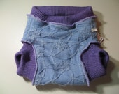 Grateful Buns Wool Soaker 3 - Layer Diaper Cover Large 20 to 30 lbs LS462a16