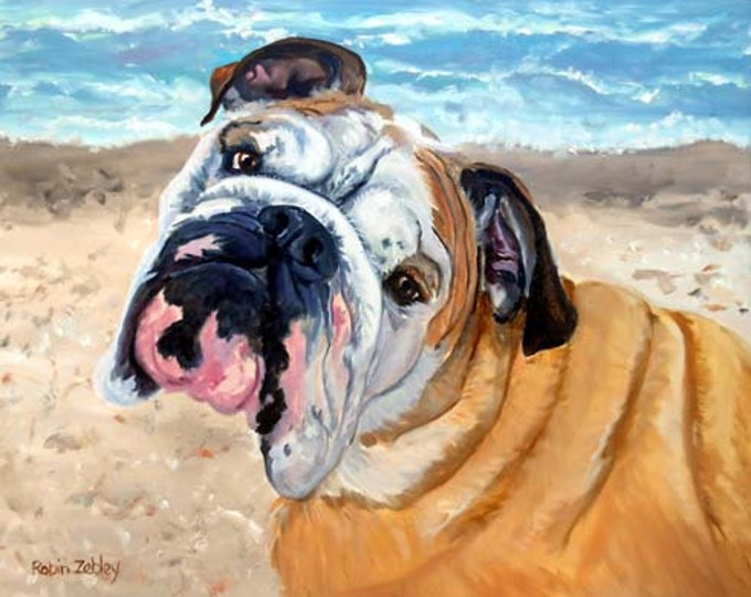 Custom Pet Portrait Painting, Fine Art Oils on Canvas Dog Portrait Gift Certificate