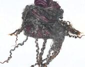 Art Yarn handspun handdyed BFL wool & Wensleydale locks