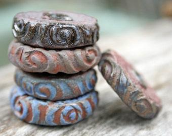 Handmade Ceramic Bead Set of 5