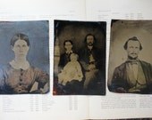 4 Large 5 x 7 Antique Tintype Photographs