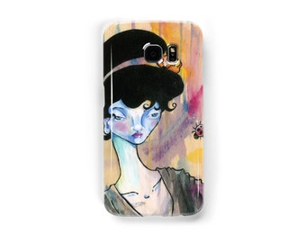 Art cell phone case I See Right Through You  iphone 5/5s, iphone 7 6/6s samsung galaxy s7 s6 s5 acrylic painting japanese geisha colorful