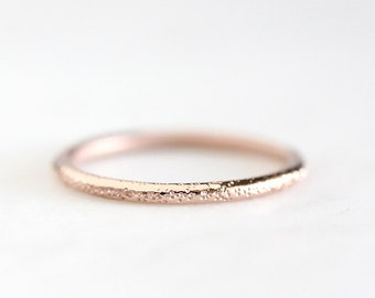 stardust 14k rose gold wedding ring, solid recycled gold band, eco friendly, rose gold, white gold, wedding ring, recycled wedding ring