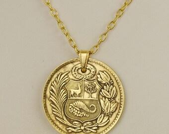 Peru Coin Necklace 1945