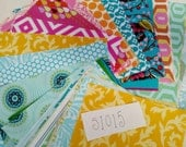 Bulk Squares of Quilting Fabric DESTASH LOT S1015 Mixed Scraps incl. Anna Maria Horner, Amy Butler, Heather Bailey cotton fabric Great Value