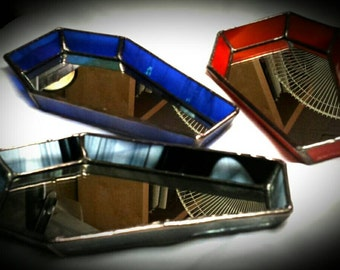 Coffin Tray - Stained Glass Coffin Dish