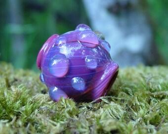Glass focal or dreadlock bead - Rain on Rosepetals