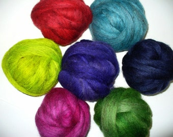 Wool Top  Mixed Breed Sampler for Hand Spinning or Felting
