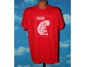 Natural History Tiger Red Tshirt vintage 1980s