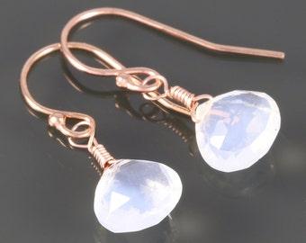 Genuine Opal Earrings. Rose Gold Filled Ear Wires. October Birthstone. Lightweight Earrings. Briolette Earrings. f16e066