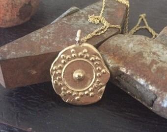 14k gold pendant charm - Ancient Amulet