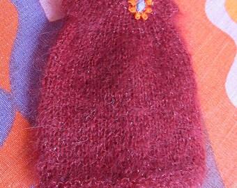 Odds & Ends SALE - Blythe:  Redd fluffy smock dress orange flower
