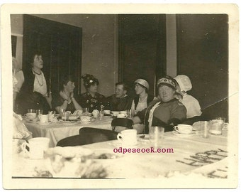 Vintage Halloween costume party gypsy wizard star photo postcard