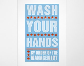bathroom art kids bathroom wall art wash your hands by order of management print 8 x 14 fits 11 x 17 frame wo mat kids wall decor