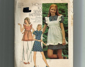 Simplicity Young Junior/Teens' and Misses Pinafore and Short Dress Pattern 6162