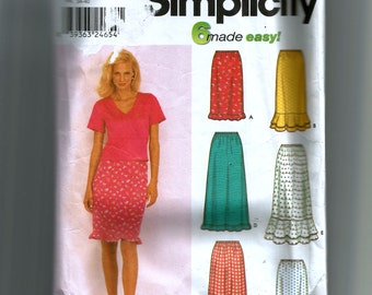 Simplicity Misses' Skirts Pattern 9570