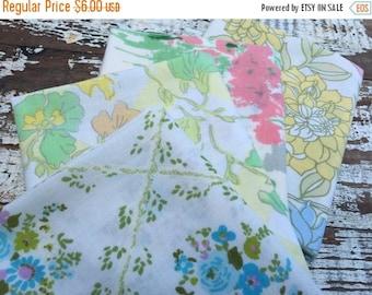 40% FLASH SALE- Reclaimed Bed Linens Fat Quarter Bundle-Flower Power