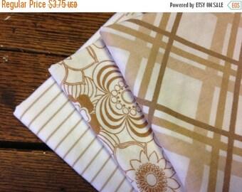 40% OFF FLASH SALE- Reclaimed Bed Linens Fat Quarter Bundle-Earth Brown