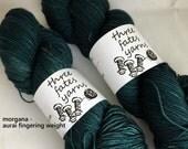 morgana - aurai fingering weight merino yak nylon sock yarn, dyed to order