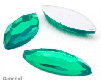 7mm x 15mm Emerald Navette (4 Pcs)  #4641