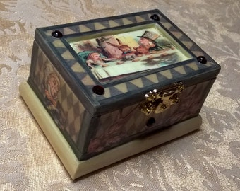 Mad Hatter's Tea Party Trinket Box