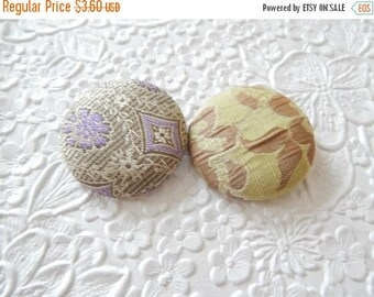 CLEARANCE Lavender button, fabric button, fabric button, set of 2 buttons, 1.5 inches