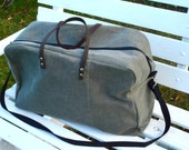 Made to Order Weekender Travel Bag Leather Handles