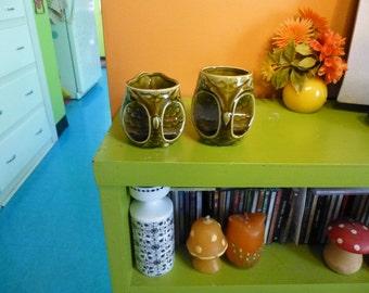 Vintage 60s Owl Tea Sugar Bowl Set Sweet Set